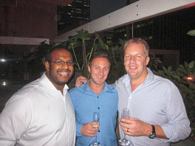 men at party