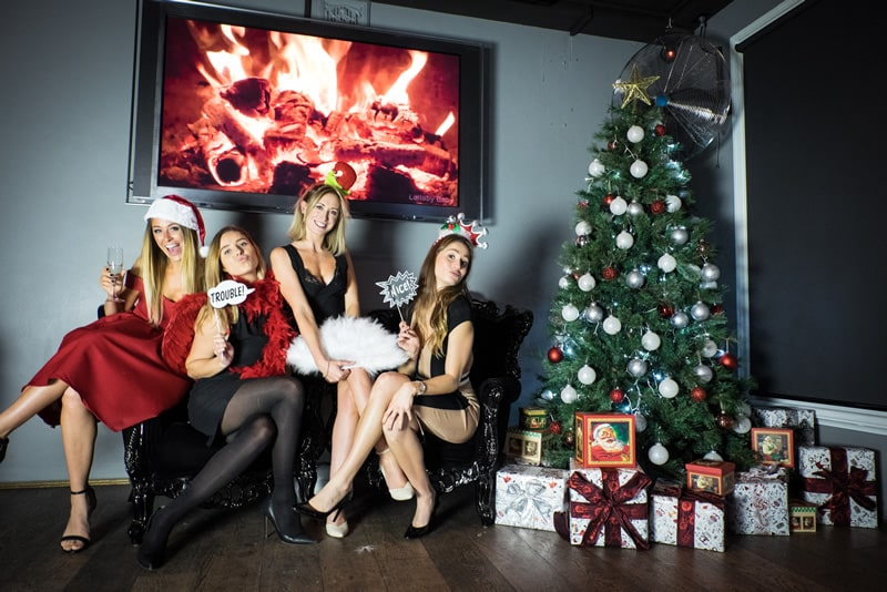 girls at christmas party